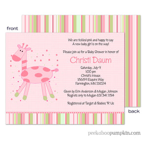 Pink Giffy Baby Shower Invitations