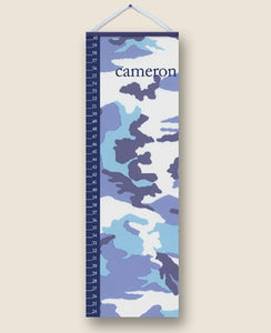 Camo Blue Personalized Growth Charts