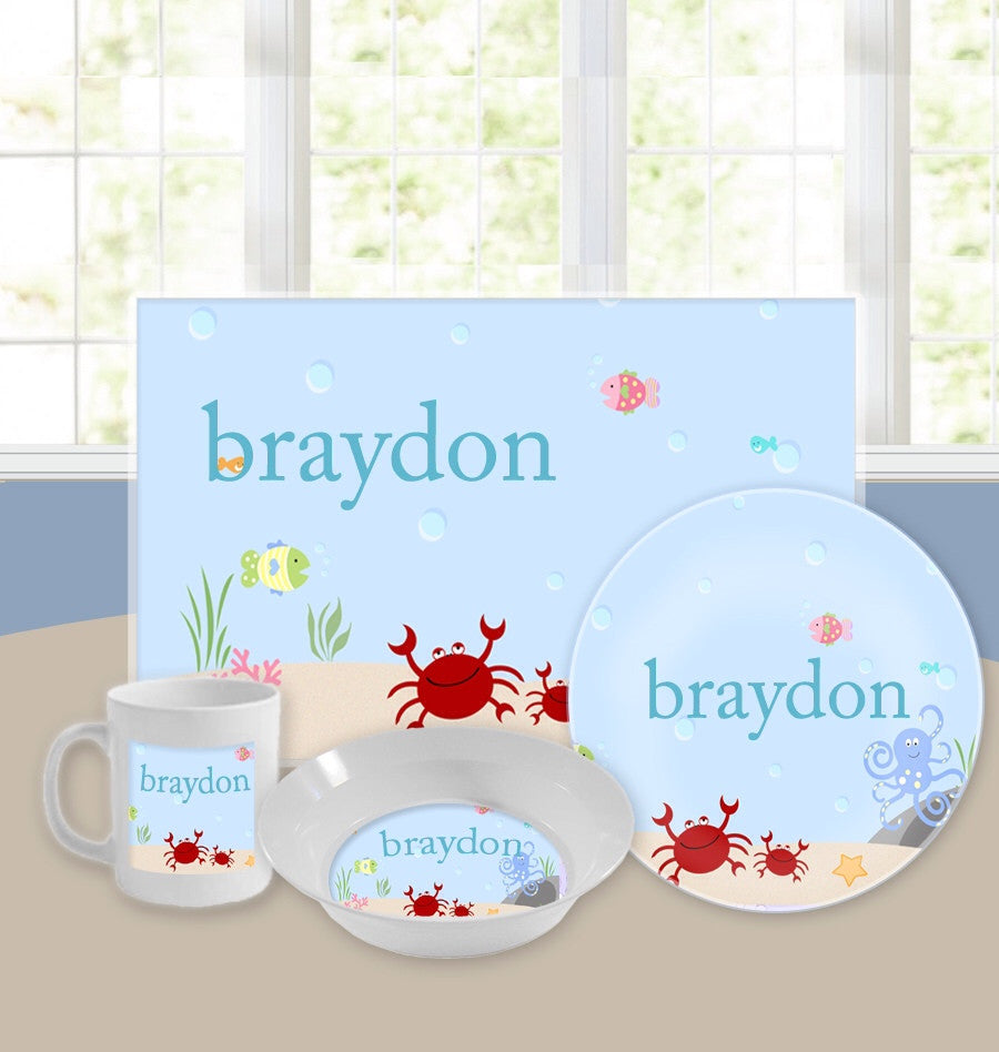 Personalized Kids Tableware Set - Under The Sea