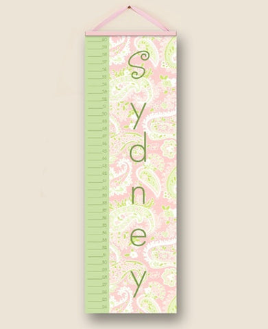 Paisley Pink Personalized Growth Charts