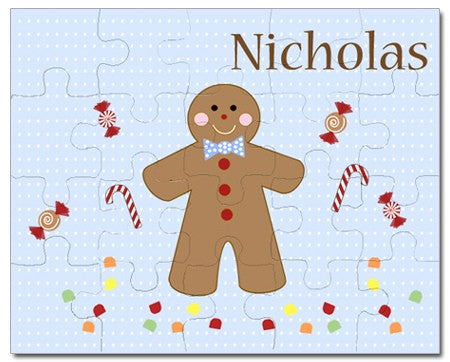 Gingerbread Boy Personalized Puzzles
