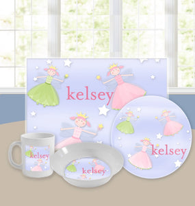 Personalized Kids Tableware Set - Fairy Princess