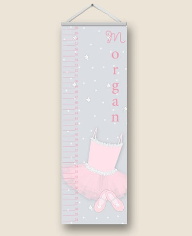 Ballerina Girl Personalized Growth Charts