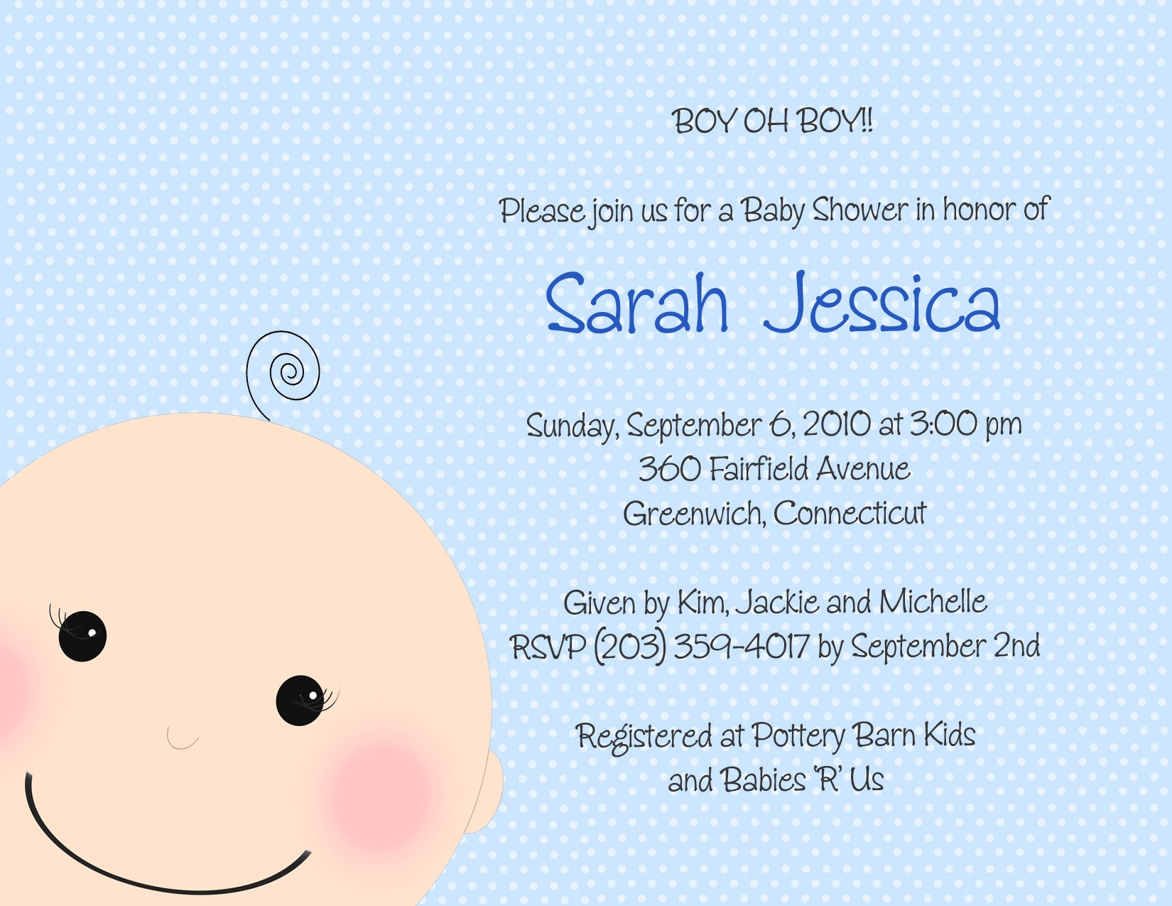 Oh Baby Boy Baby Shower Invitations