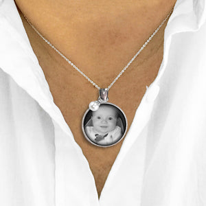 Photo Necklace | Baby Silhouette