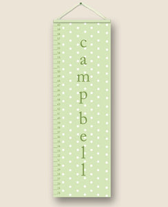 Sage Polka Dot Personalized Growth Charts