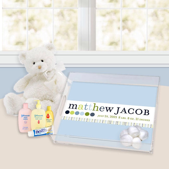 Personalized Nursery Trays