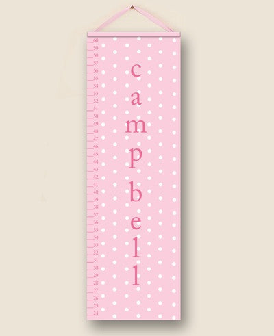 Pink Polka Dot Personalized Growth Charts