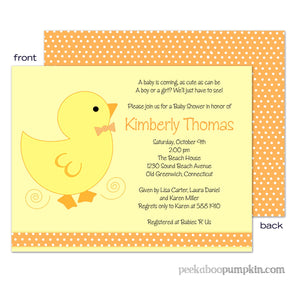 Lucky Ducky Baby Shower Invitations
