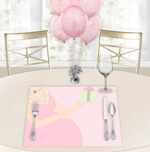 Baby Bump Pink Baby Shower Placemats