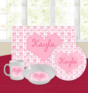 Personalized Kids Tableware Set - Wild at Heart