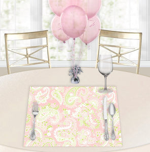 Paisley Pink Baby Shower Placemats