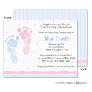 Pitter Patter Baby Shower Invitations
