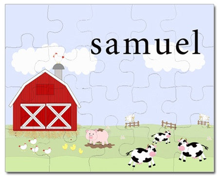 Funny Farm Personalized Puzzles