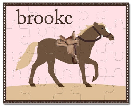 Giddy Up Pink Personalized Puzzles