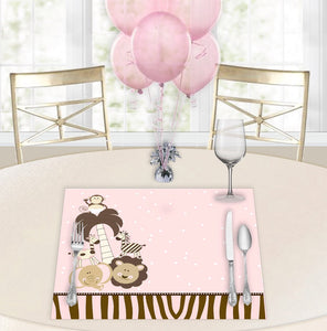 Baby Safari Pink Baby Shower Placemats