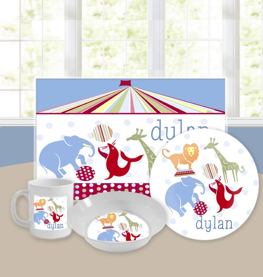 Personalized Kids Tableware Set - Big Top Baby