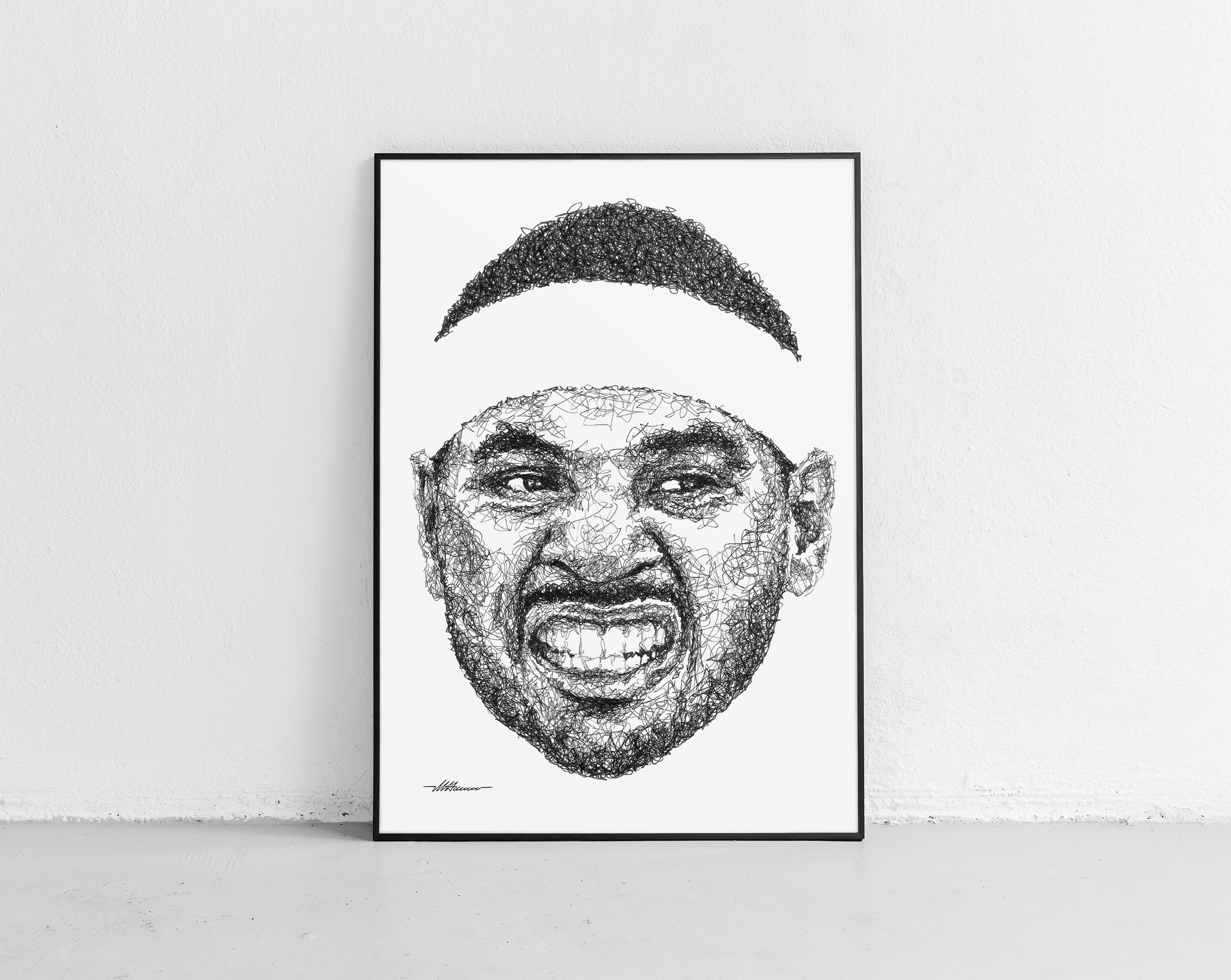 Scribbled Carmelo Anthony