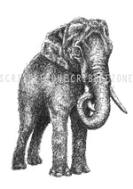 Lade das Bild in den Galerie-Viewer, Scribbled Elephant