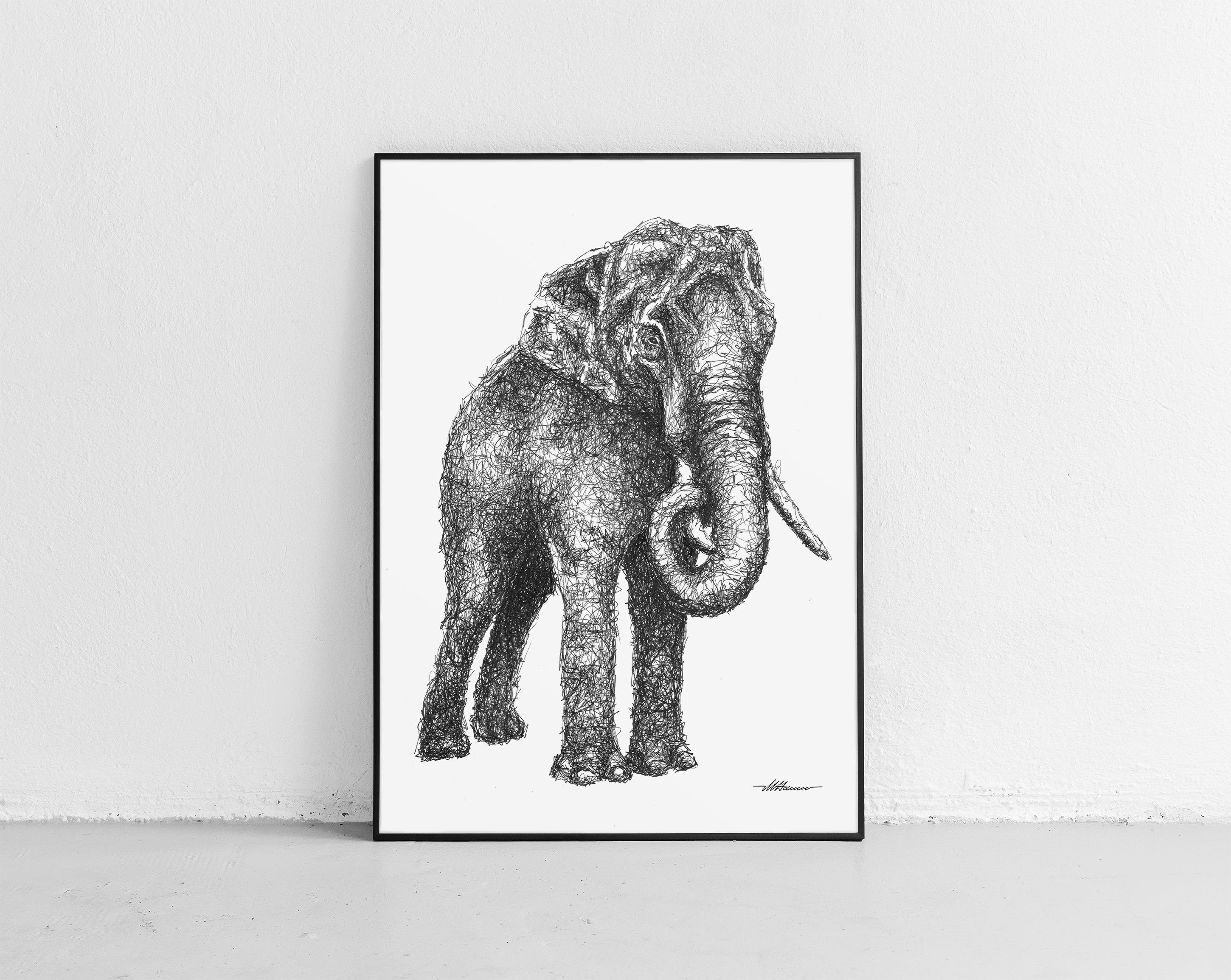 Scribbled Elephant