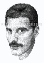 Lade das Bild in den Galerie-Viewer, Scribbled Freddie Mercury