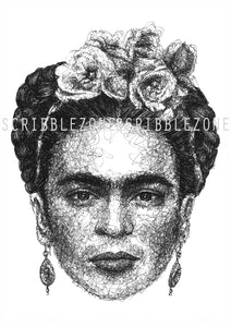 Scribbled Frida Kahlo