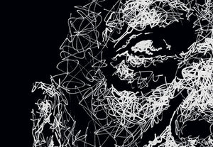 Reverse Scribble of John Lee Hooker