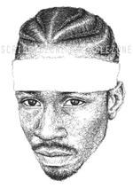 Load image into Gallery viewer, Scribbled Allen Iverson