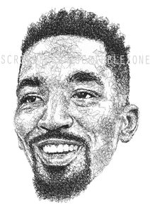 Scribbled J.R. Smith