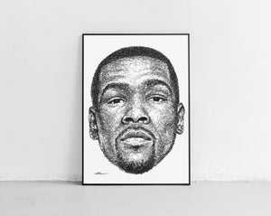 Scribbled Kevin Durant