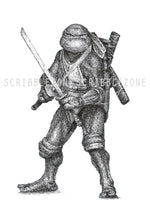 Lade das Bild in den Galerie-Viewer, Scribbled Leonardo (Teenage Mutant Ninja Turtles)