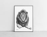 Lade das Bild in den Galerie-Viewer, Scribbled Lion