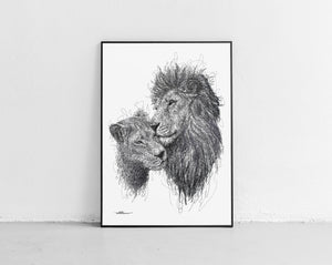 Scribbled Lions