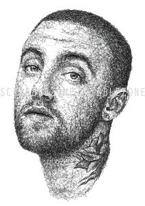 Scribbled Mac Miller