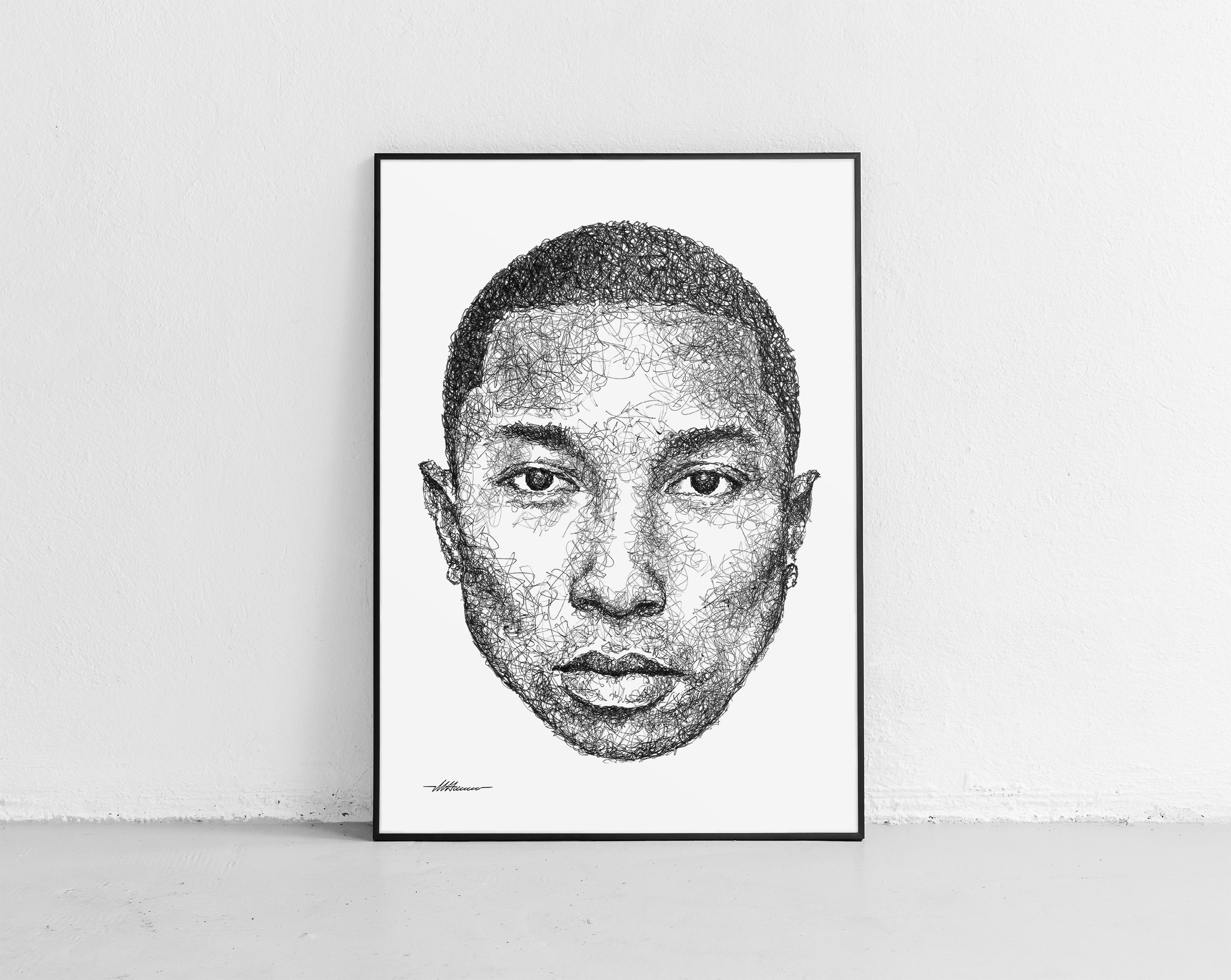 Scribbled Pharrell Williams