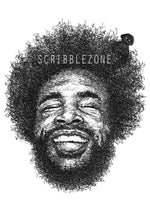 Lade das Bild in den Galerie-Viewer, Scribbled Questlove