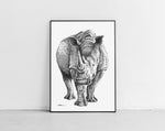 Lade das Bild in den Galerie-Viewer, Scribbled Rhinoceros