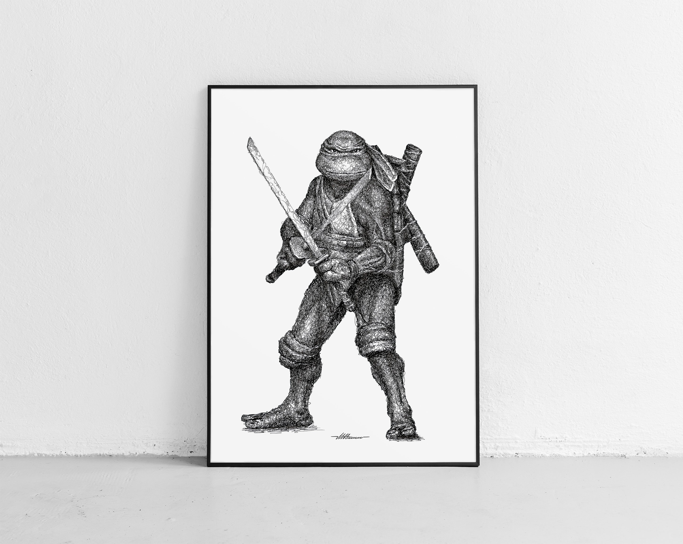 Scribbled Leonardo (Teenage Mutant Ninja Turtles)