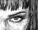 Load image into Gallery viewer, Scribbled Mia Wallace (Uma Thurman)