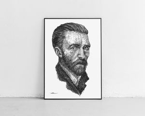 Scribbled Vincent Van Gogh
