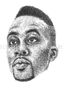 Scribbled Dwight Howard