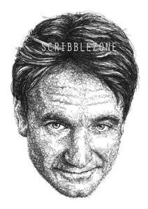 Scribbled Robin Williams