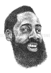 Scribbled James Harden