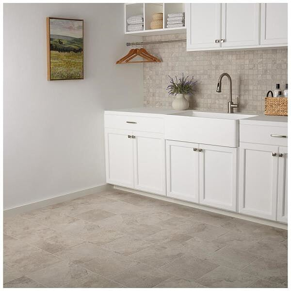 "Daltile 12"" Glazed Porcelain Floor & Wall Tile – Hastings Gray"