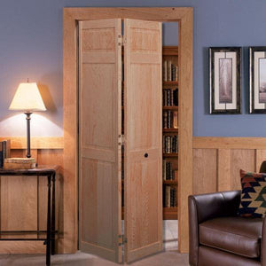 "Masonite 30"" x 78"" 6-Panel Pine Bi-Fold Interior Door – Unfinished"