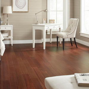 "Home Legend 5""W Varying Length Click Lock Hardwood Flooring – Matte Jatoba – 7 Boxes"