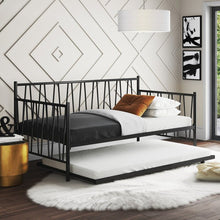 Load image into Gallery viewer, *AS IS Mercury Row Mercedes Twin Metal Daybed & Twin Trundle – Black