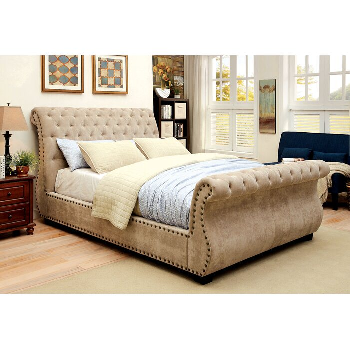 *AS IS Darby Home Co Benavides King Upholstered Bed - Mocha