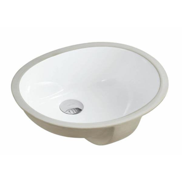 Oval Undermount Vitreous Glazed Ceramic Bathroom Sink – Pure White