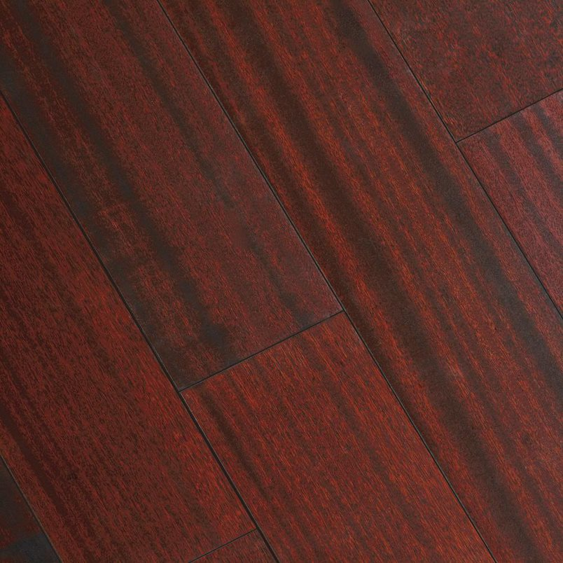 "Home Legend 5""W Varying Length Click Lock Hardwood Flooring – Matte Corbin Mahogany- 4 Boxes (Approx 78 sq ft)"